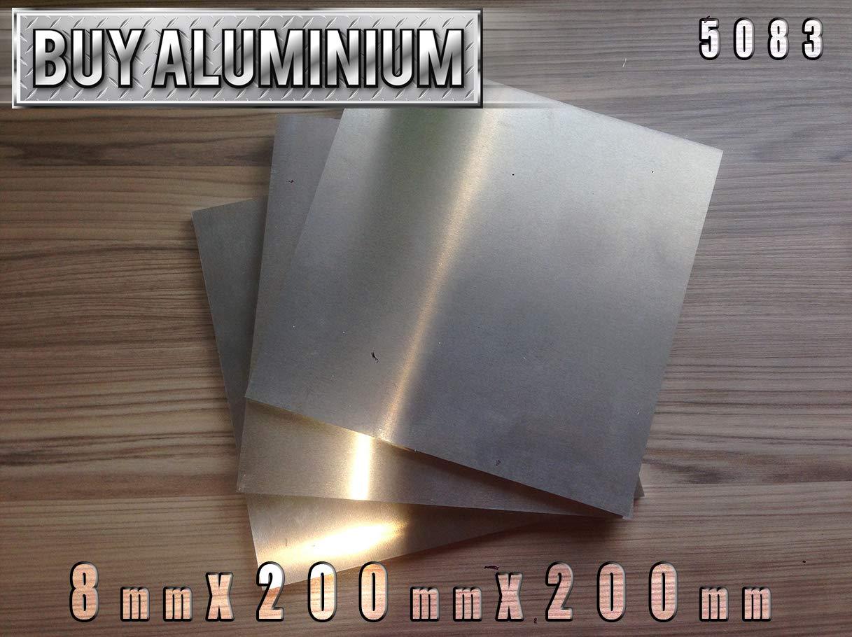 100mm x 100mm 1 Aluminiumplatte 5083 8 mm