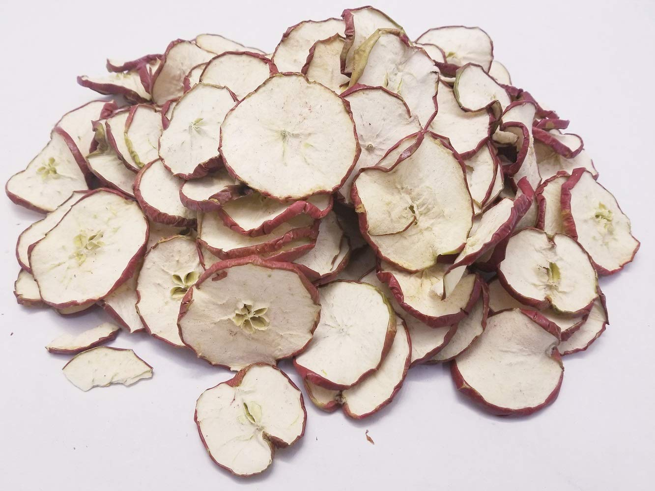 Little Valley Large 1 LB. Bag of Dried Red Apple Slices - Perfect as Potpourri, Craft, Bowl Filler, Decoration - Not Meant for Human Consumption