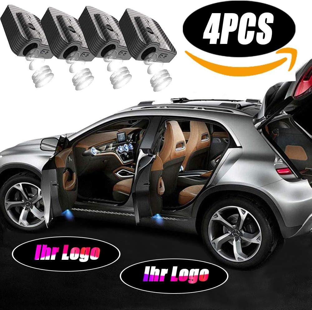 di luci per porte auto nessun magnete lampada wireless benvenuto ombra fantasma luce LED benvenuto Luce Personalizza 4pezzi Personalizzato Proiettore per porte auto senza fili Luci dibenvenuto Luce
