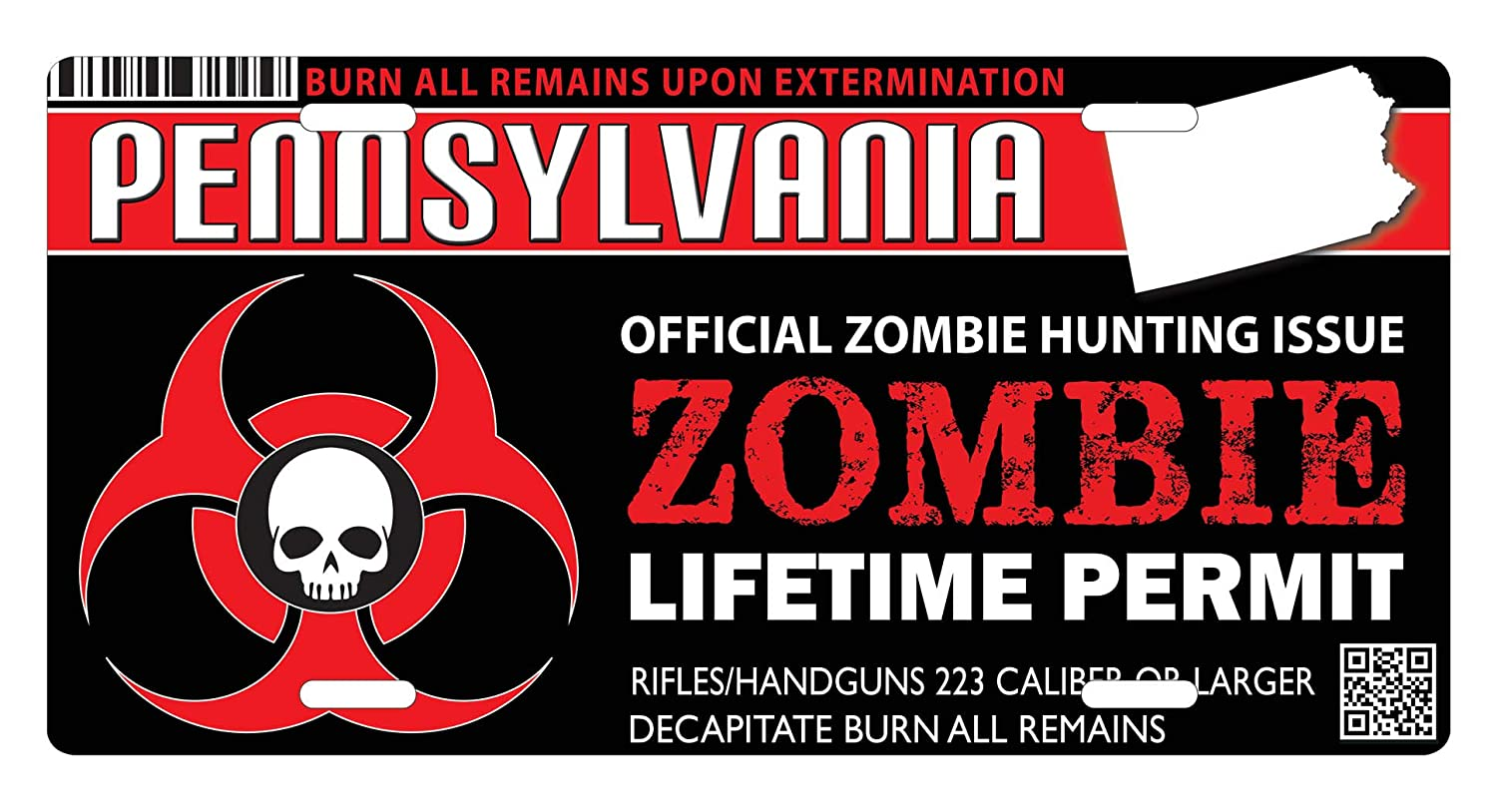 Amazon com: Pennsylvania ZOMBIE HUNTING Hunter Permit