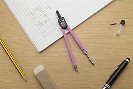 Pastel Fuchsia. Compass Double Joint 150mm with Replacement Leads