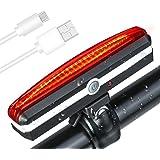 PUFF 自転車ライト テールライト USB充電式 LED セーフティライト 充電用マイクロ USBケーブル付属 6モード マウンテンバイクライト 防水 夜走行 事故防止 防水 高輝度 超小型 サイクルライト(赤)