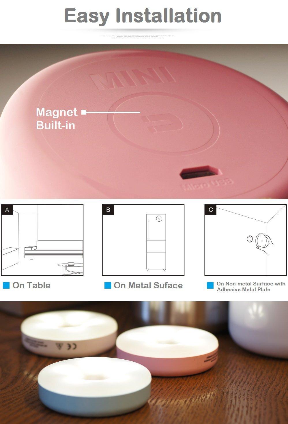 Amazon.com: RTSU - Mini luz táctil recargable, intensidad ...