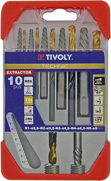 color tree 10pcs Extracteur d/écrous /à vis 9-19mm Endommag/é Cass/é Dissolvant de boulon d/écrou Kit doutils de prise Longue