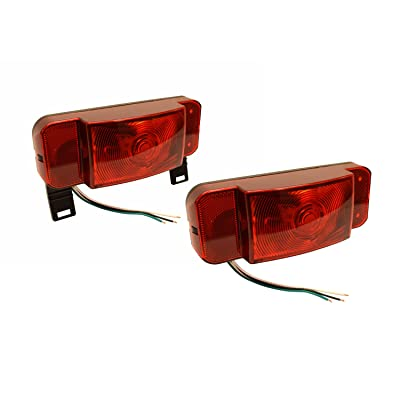 Optronics One L.E.D. Low Profile Combination RV Tail Lights (RVSTLB6061-KIT) Pair - Black Base: Automotive