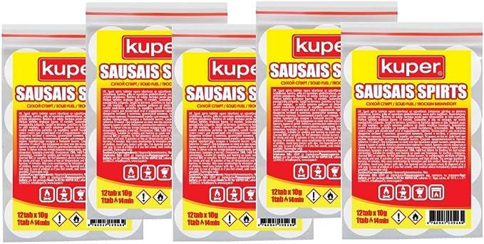 KUPER Tabletas de combustible sólido – 5 juegos x 12 piezas.