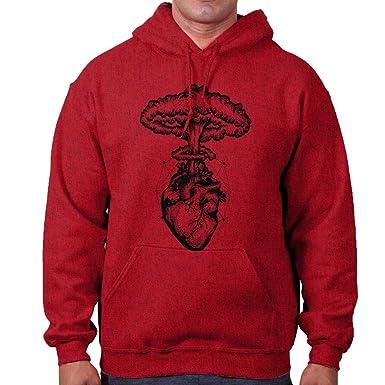 fc47bfa6 Amazon.com: Brisco Brands Heart Nuclear Explosion Symbolic Spiritual ...