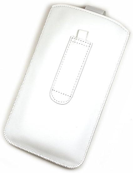 Funda de protección de piel sintética para móvil Carrefour Smart 5, color negro: Amazon.es: Electrónica