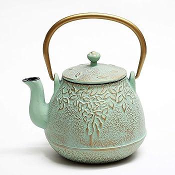 Toptier Light Green Japanese Cast Iron Teapot