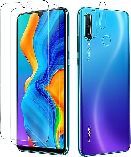 KuGi. para Huawei P30 Lite Protector de Pantalla, Cristal Templado [9H Dureza] [Alta Definicion] Protector de Pantalla Diseñado para Huawei P30 Lite