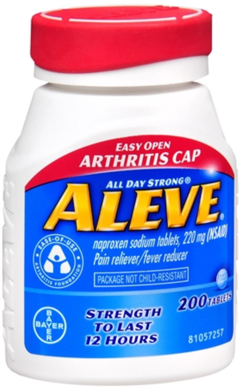 Aleve Tablets Easy Open Arthritis Cap 200 Tablets (Pack of 6)