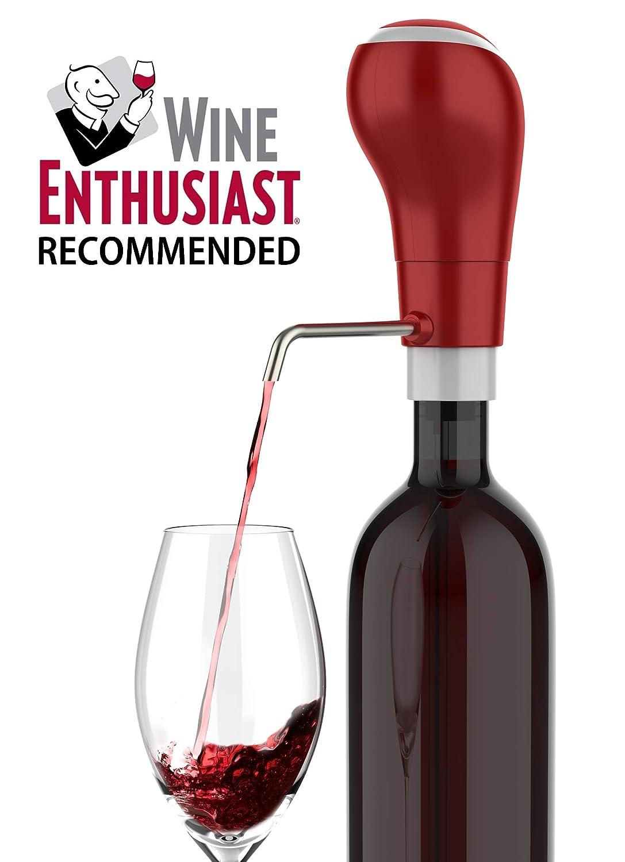 Decantador y aireador eléctrico de vino Waerator, automático, táctil rosso: Amazon.es: Hogar