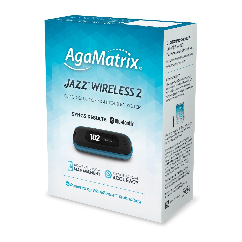 AgaMatrix Agamatrix Jazz Wireless 2 System Kit, 0.75 Pound