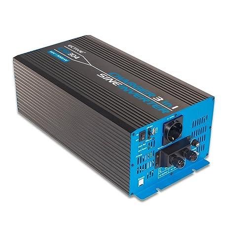 ECTIVE 3000W 24V zu 230V CSI-Serie reiner Sinus Wechselrichter mit Batterie Ladegerät und NVS in 6 Varianten: 300W - 3000W