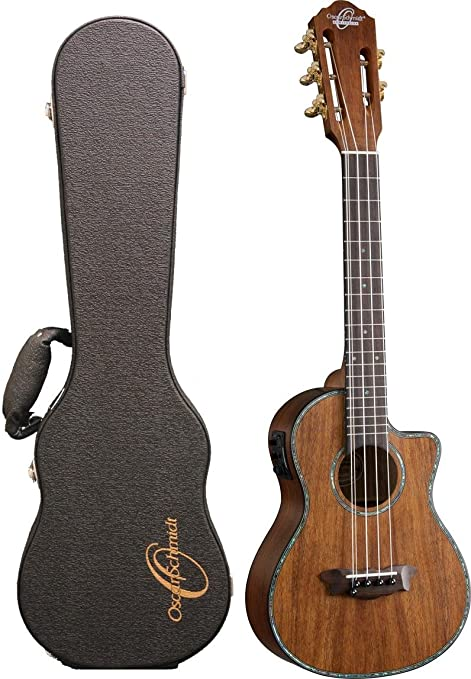 Oscar Schmidt ou100 K Tenor 5 cuerdas Hawaiian Koa ukelele con funda