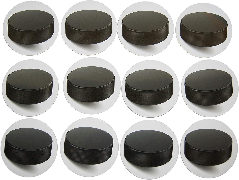 Novel Merk Hockey Puck Teacher Decorations Small Refrigerator Magnet Set Miniature Design (12 Pieces)