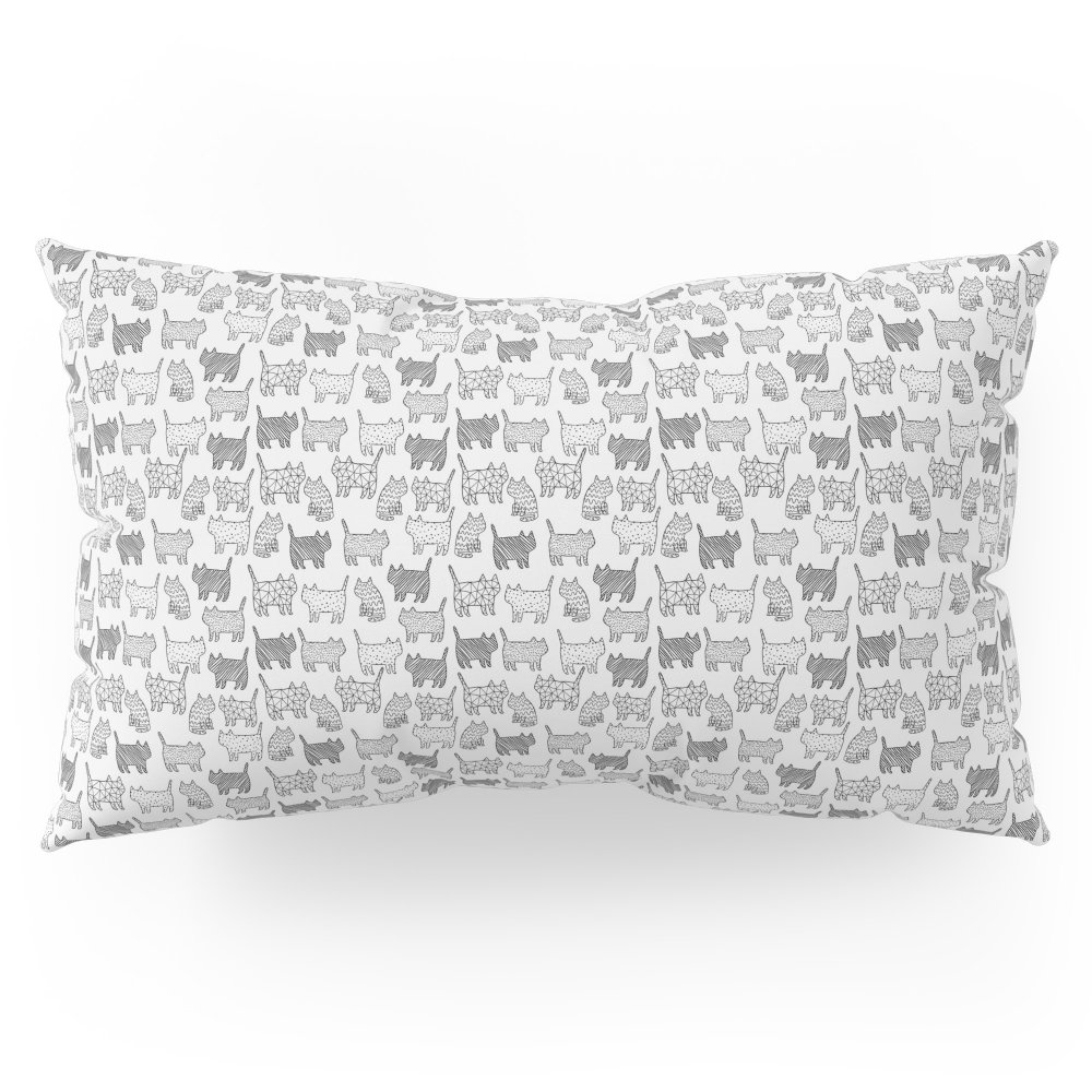 Society6 Pattern Cats Pillow Sham King (20'' x 36'') Set of 2