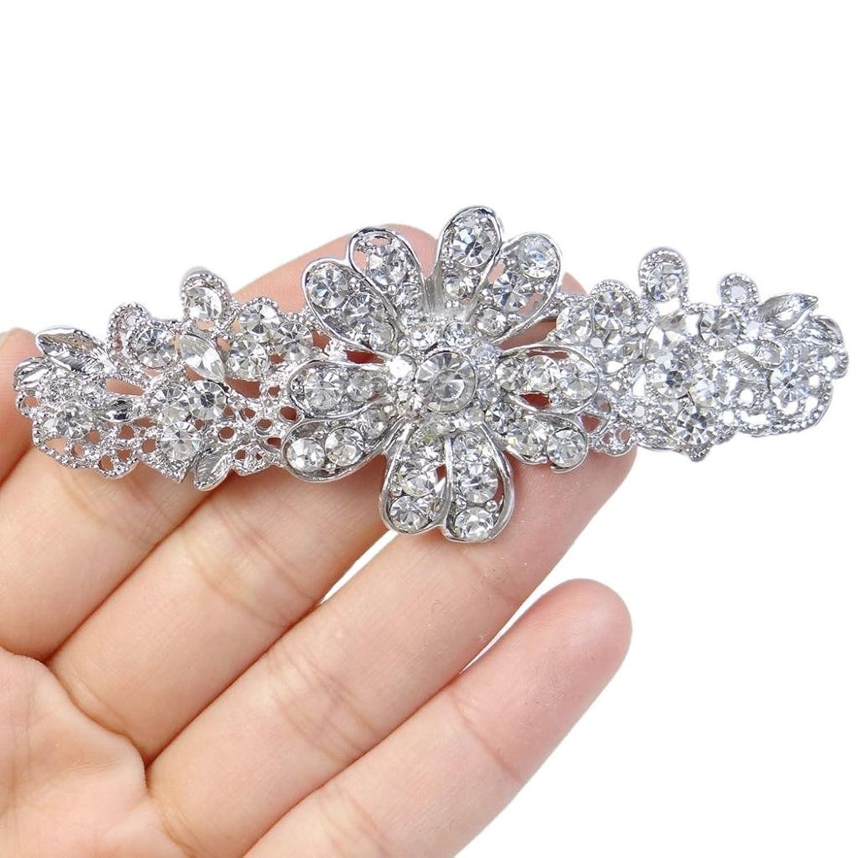 Ever Faith Cristallo nuziale austriaca margherita fiore trasparente silver-tone  N02826-1: Amazon.it: Gioielli