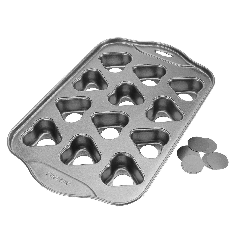 12 Cups Mini Cheesecake Pan, springform Pan,bundt cake pan-(Heart-Shaped)