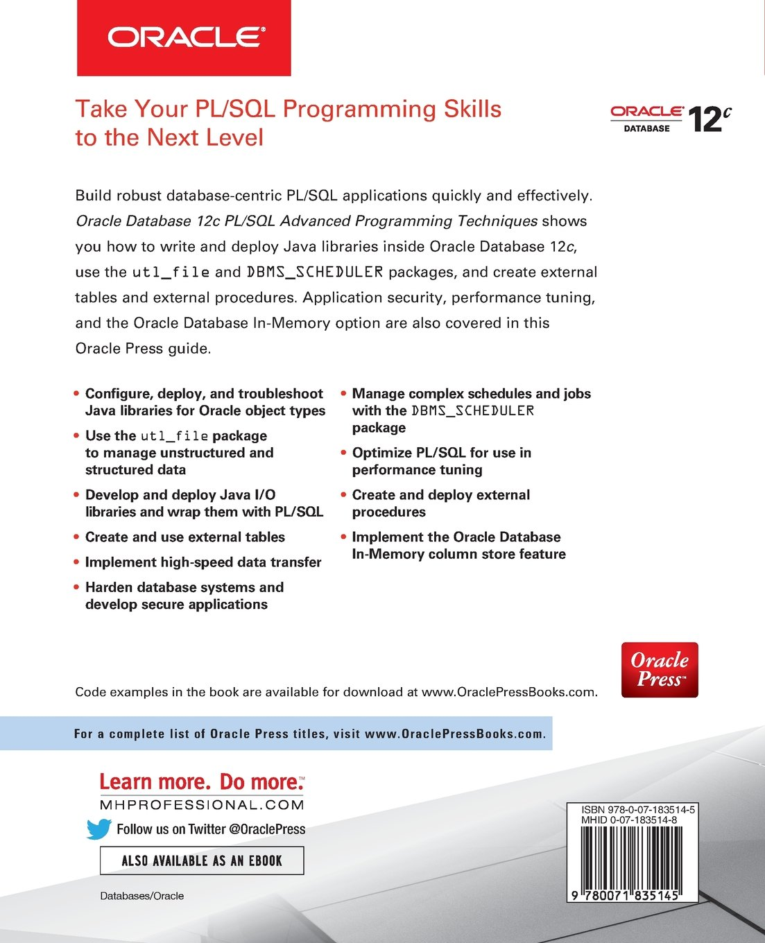 buy oracle database 12c pl sql advanced programming techniques book rh amazon in Oracle SQL Developer SQL View