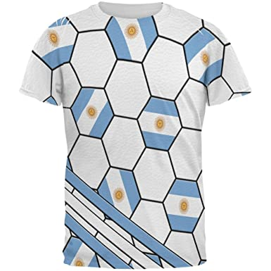 6231788a8d6 Old Glory World Cup Argentina Soccer Ball All Over Mens T Shirt Multi SM