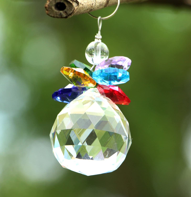 YIER 20mm ara/ña de Cristal de la Ventana Prismas Fabricante del Arco Iris Suncatcher Paquete de 6