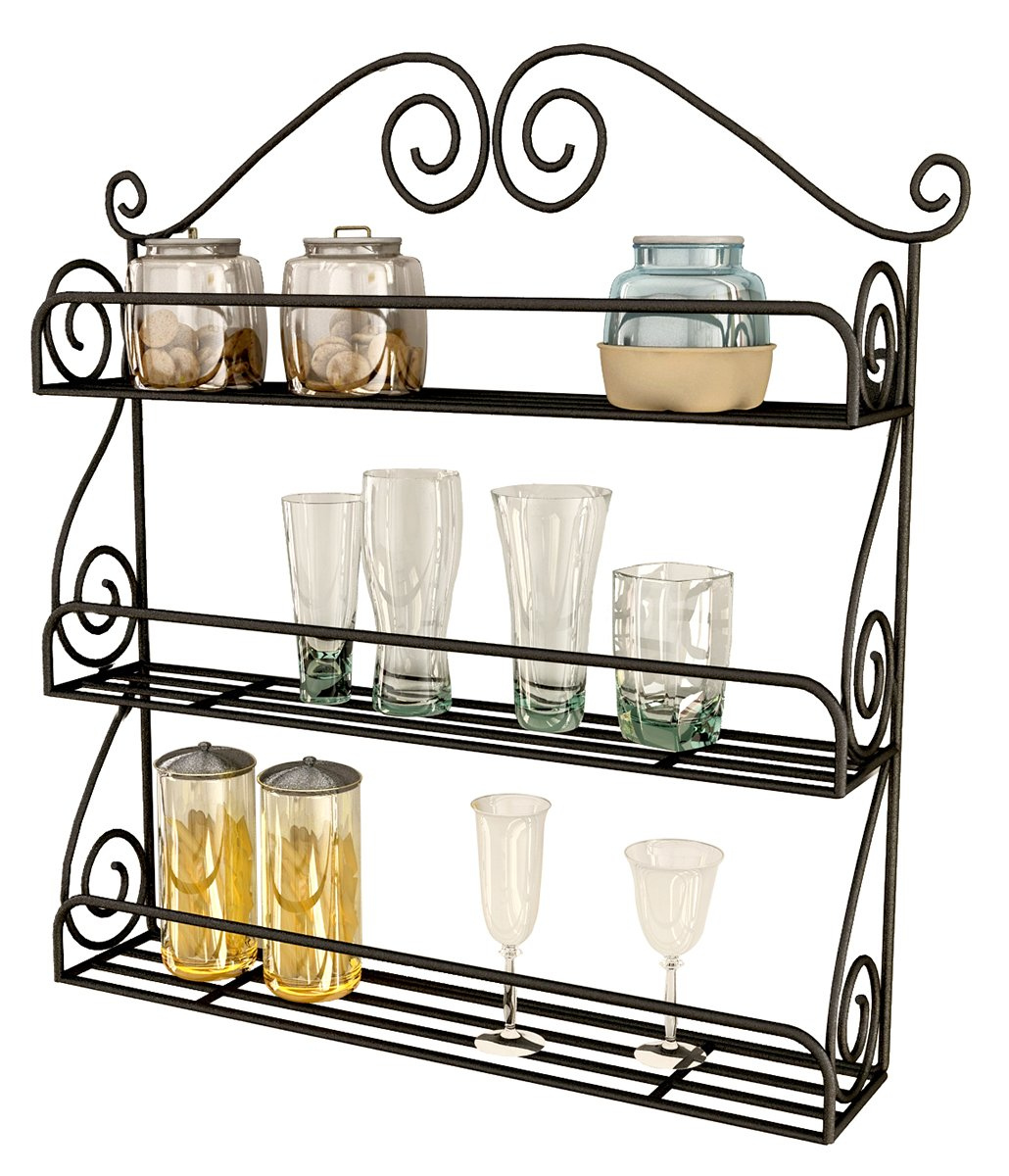 Home Sparkle Mild Steel Kitchen Rack (Black): Amazon.in: Home U0026 Kitchen