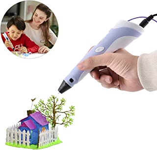 HAWEE Intelligent 3D Pen for Doodling, Art and Craft Making Compatible with PLA/ABS Filaments Best Gift DIY 3D Modeling Christmas Halloween Gift for Kids or Adult (Blue)
