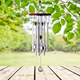 "Premium Wind Chimes Outdoor, 22"" Amazing Grace Wind Chimes Punada for Outdoor Indoor Patio Garden Balcony, Beautiful Outdoor Decor (Silver)"