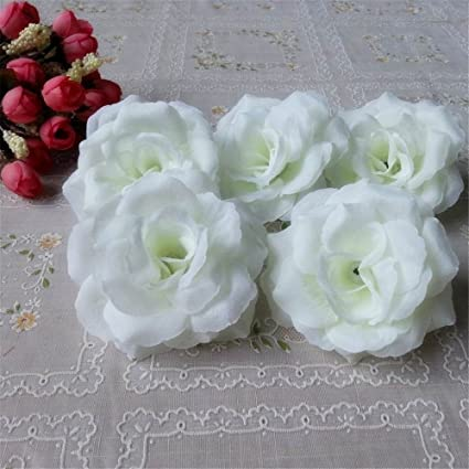 Amazon 3 silk rose heads 100 artificial flowers wholesale 8cm 3quot silk rose heads 100 artificial flowers wholesale 8cm for kissing balls pomander flower wall mightylinksfo