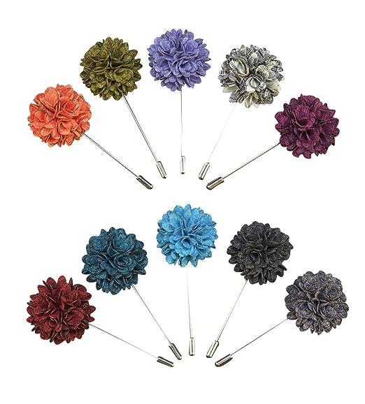 Soleebee YM025 Broches de Solapa, Mixto Aleatorio Flores de ...