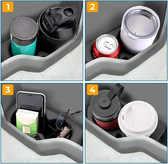 Dasbecan 2PCS Car Door Cup Holder Compatible with 2009-2020 Dodge Ram 1500 2500 3500 4500 5500 Front Driver Passenger Foam Holder Replaces # 5NN24XXXAA 1LD23XXXAA