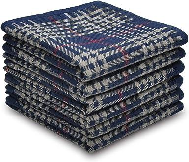 Pañuelos para hombre de 100 % algodón seleccionados, juego de regalo de 6 piezas: Amazon.es: Ropa y accesorios