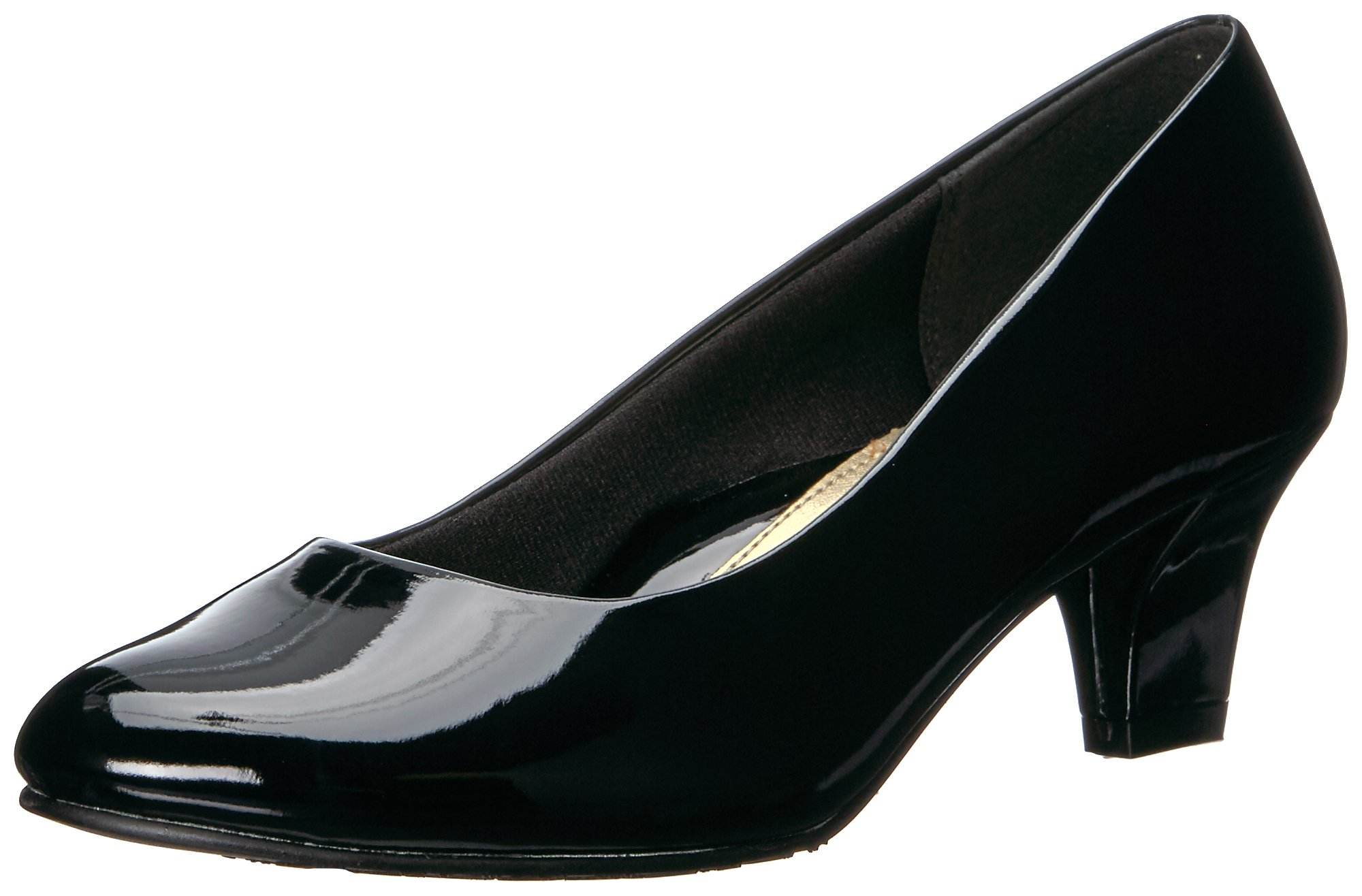 Soft Style by Hush Puppies Women's Gail Dress Pump, Black Patent, 7.5 M US