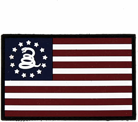 AMERICAN USA FLAG DON/'T TREAD ON ME SNAKE 3D PVC FULL COLOR VELCRO® BRAND PATCH