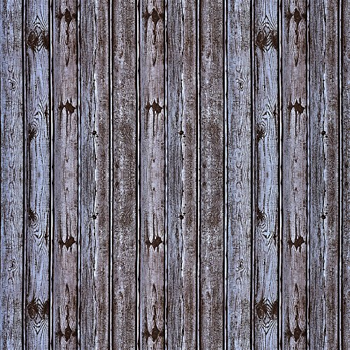 Wopeite Wood Grain Contact Paper Brown Distressed Wood Panel Vintage Self-Adhesive DIY Peel and Stick Removable Decorative Home Furniture Decoration (Panel Removable)
