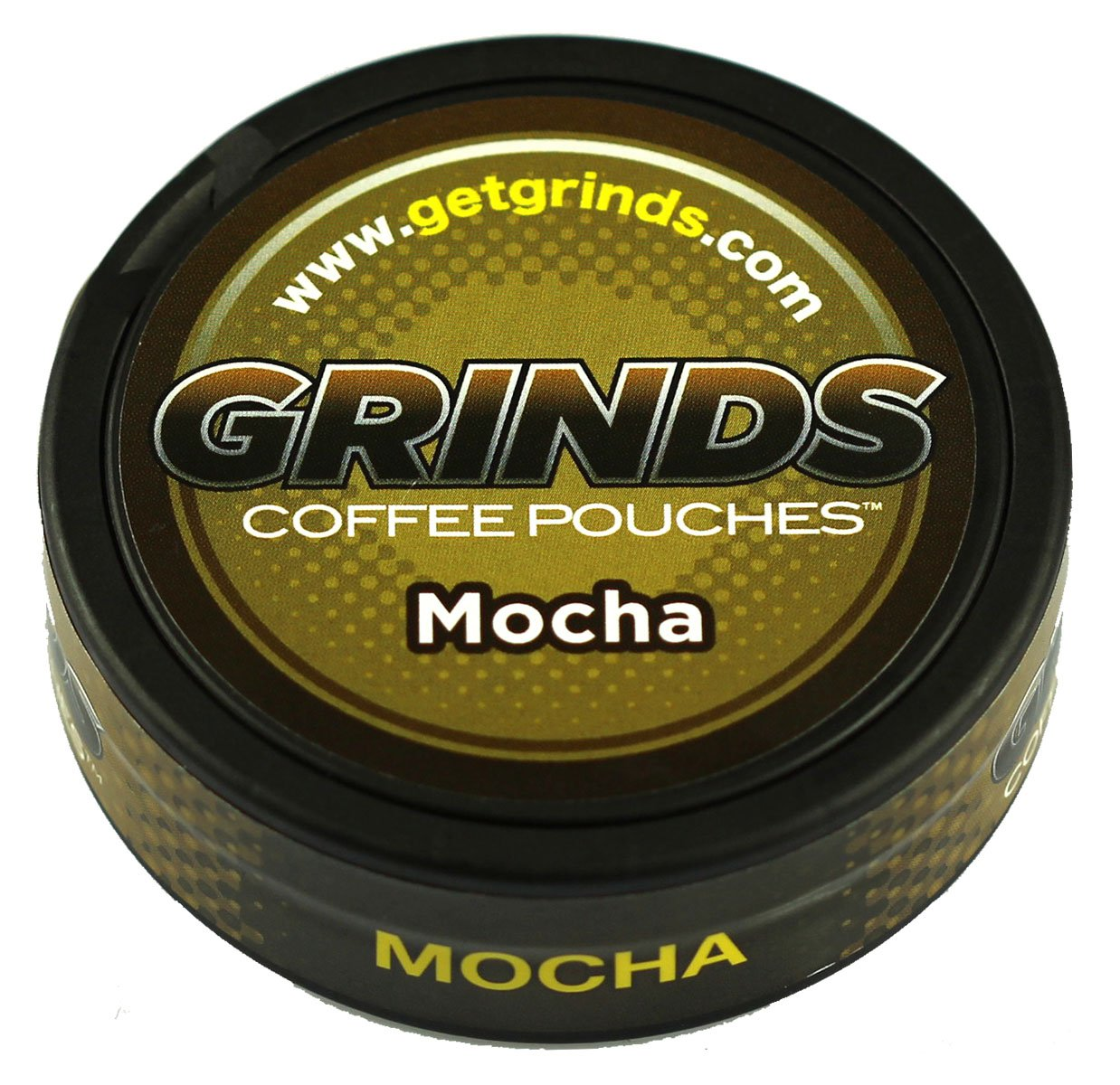 Grinds Coffee Pouches - 3 Cans - Mocha - Tobacco Free, Nicotine Free Healthy Alternative by GRINDS