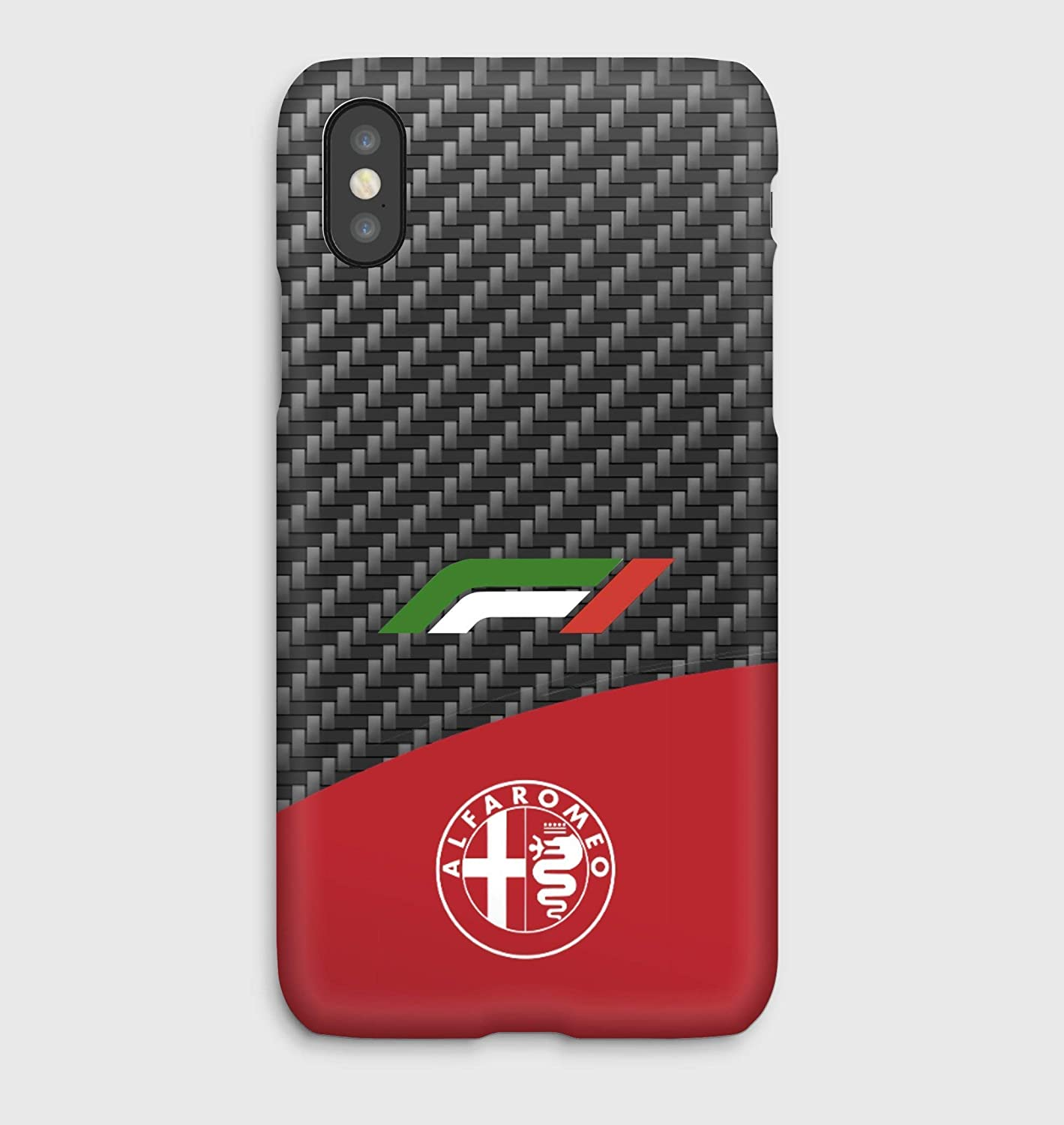 F1 Alfa Romeo iPhone cas 4, 4S, 5, 5SE, 5S, 5C, 6, 6S, 6S + 6+, 7, 7+, 8, 8+, iPhone X,