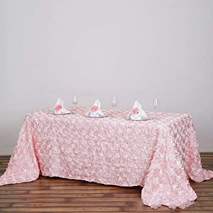 Merveilleux Tableclothsfactory Rosette/Rose Pattern Rectangle Tablecloth 90x132   Blush  Tablecloth