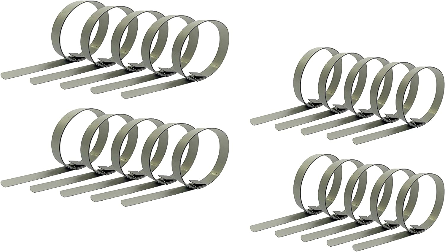 CP0699-5//8 w x 1-1//2 ID 20 1-1//2 Band-It Center Punch Clamps Qty