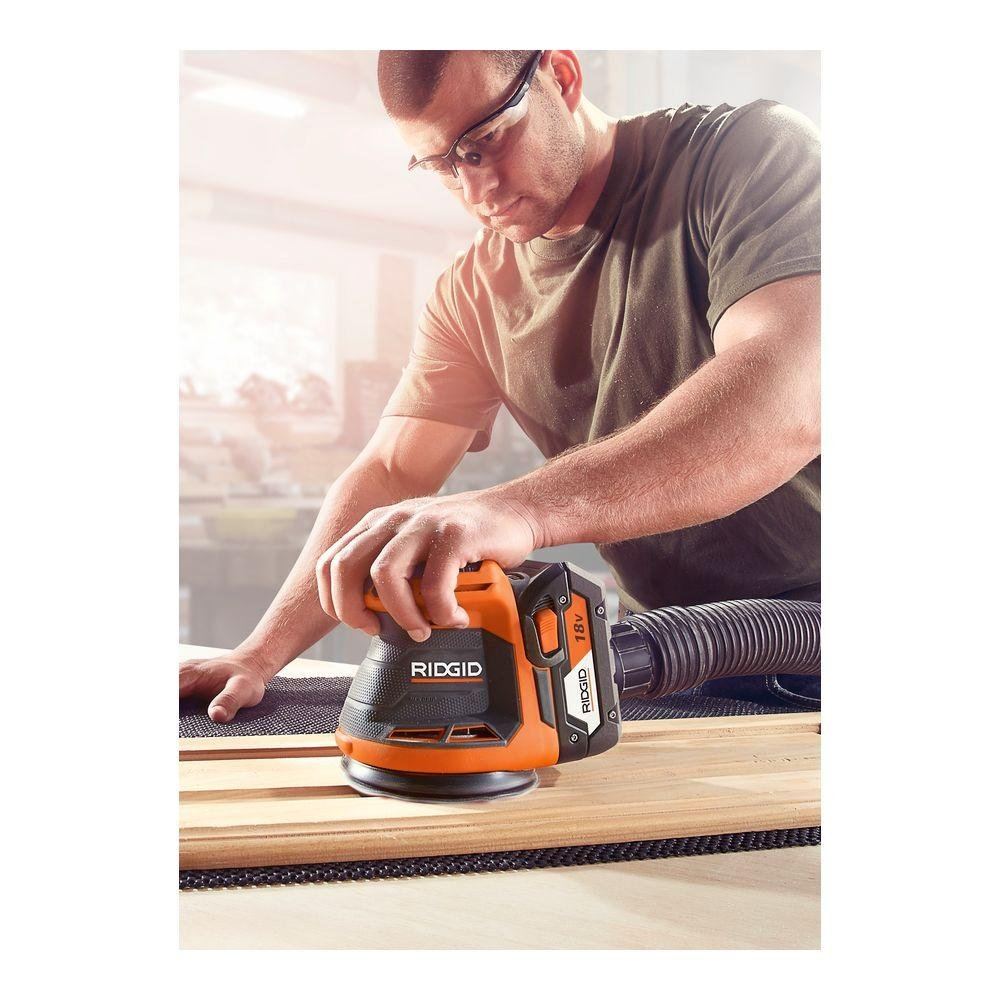 Ridgid R8606B GEN5X 18-Volt 5 in. Cordless Random Orbit Sander (Tool-Only, Battery and Charger NOT Included) by Ridgid (Image #4)