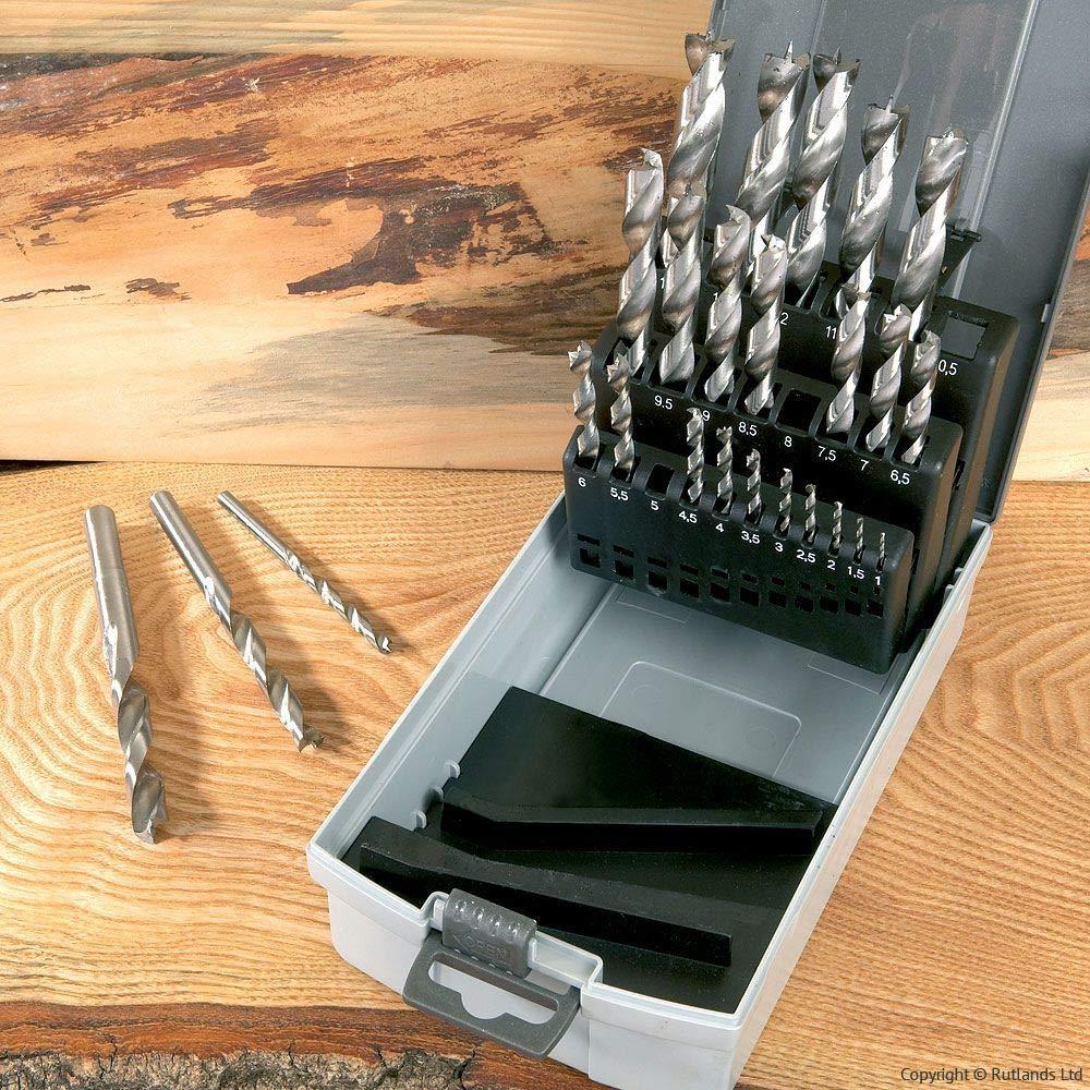 Set of 25 Brad Point Drill Bits - Metric Dakota