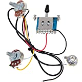 Kmise MI0316 3 Pickup Guitar Wiring Harness - Prewired with 500k Pots 5 Way, 1