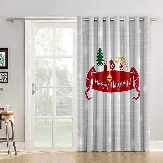 Red Vow Cortinas de Cocina con diseño de Elefante y Mandala para Puerta corredera de Cristal o Patio: Amazon.es: Hogar
