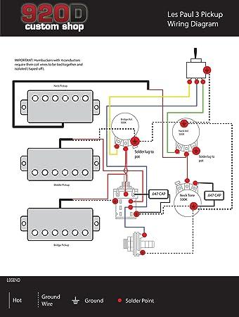 Amazoncom Gibson Les Paul Black Beauty 3 Pickup Wiring Harness