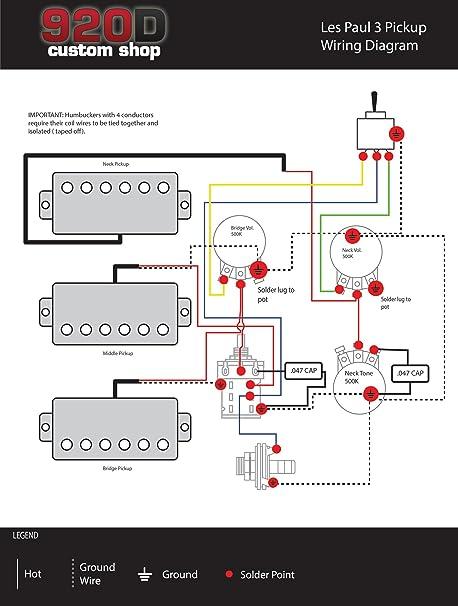 Les Paul Humbucker Wiring Diagram