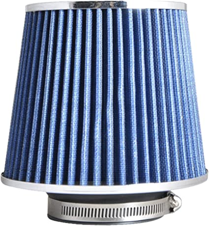 Universal Fit Blue Color 3 Inch PERFORMANCE Air Intake Filter By IKON MOTORSPORTS