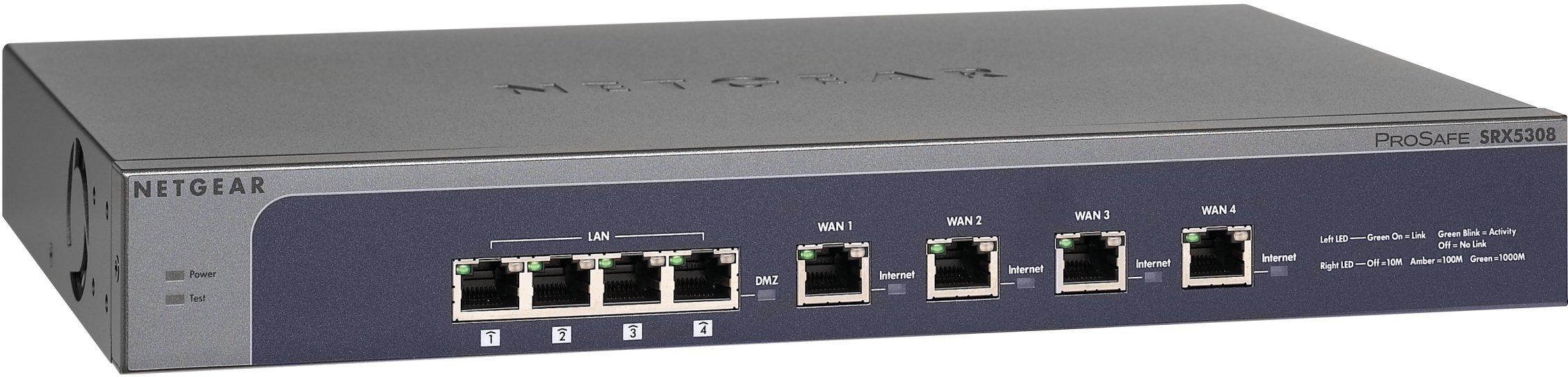NETGEAR ProSAFE SRX5308 Quad WAN VPN Firewall with SSL and IPSec VPN (SRX5308-100NAS)