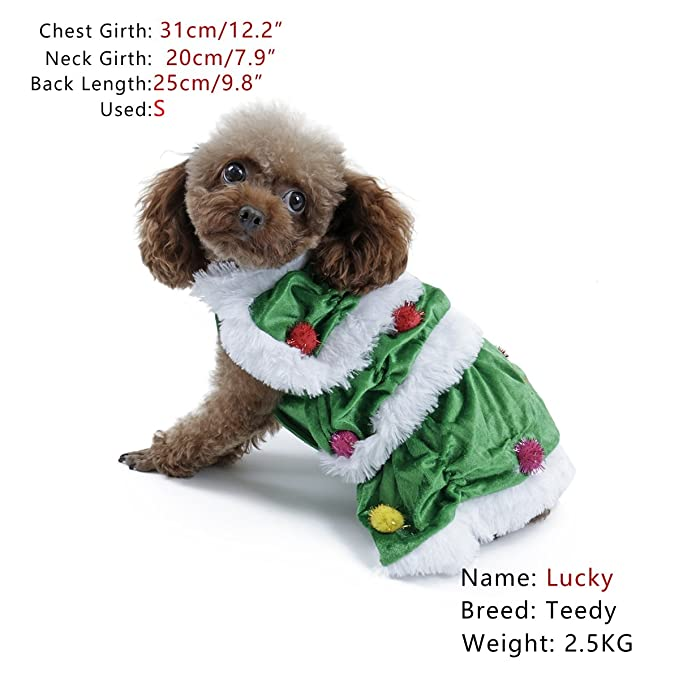 XUJW-PET, Árbol de Navidad Mascotas Perro Gato Capa Cachorro Suéter ...