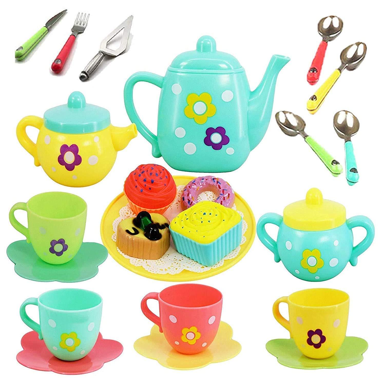 Cable World Plastic Tea Party Pretend Play Kitchen Set $4.16 Coupon